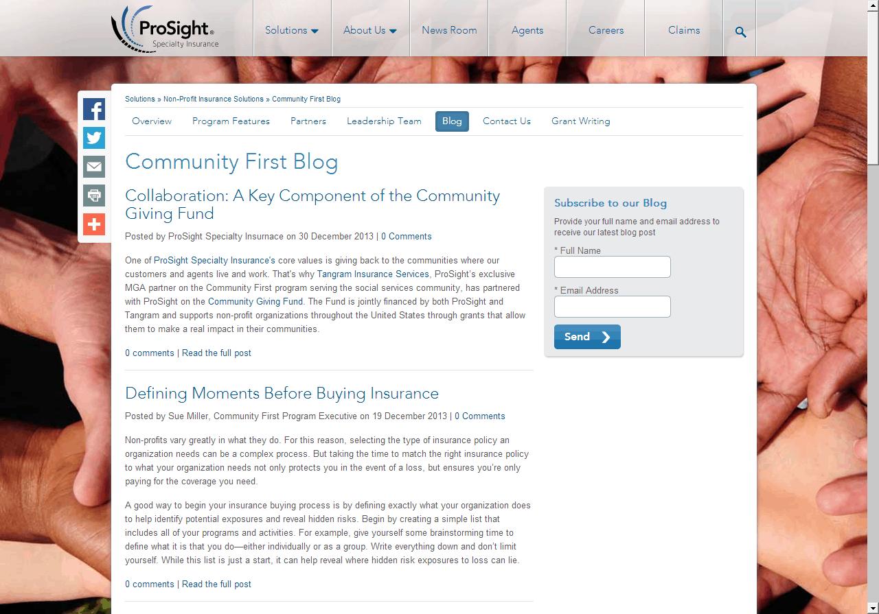 insurance-content-blog-community